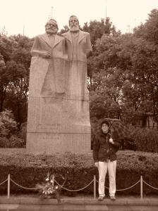 Statue of Marx and Engels downtown Shanghai